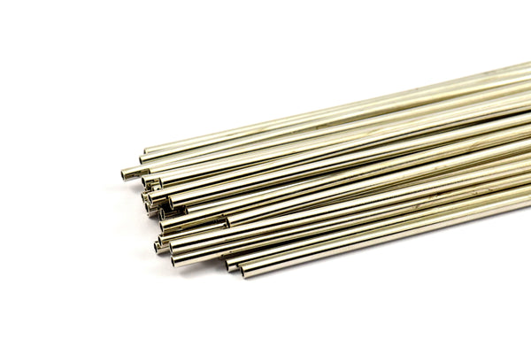 2.5mm Nickel Tubes Customize Size - 24 Pcs Nickel Plated Brass Tube Beads - 30mm-40mm-50mm-60mm-70mm-80mm-90mm