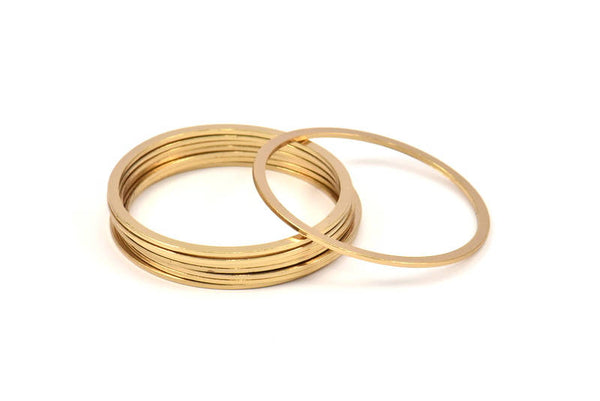 Circle Connector, 10 Gold Plated Brass Circle Connectors (40x2x1mm) Bs 1326