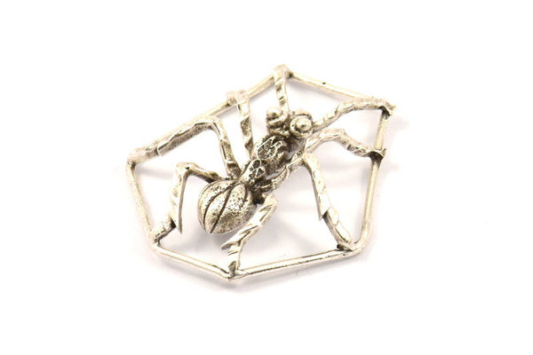 Antique Silver Plated Ant Pendant, 1 Black Plated Ant Pendants, Animal Jewelry (36mm) N354