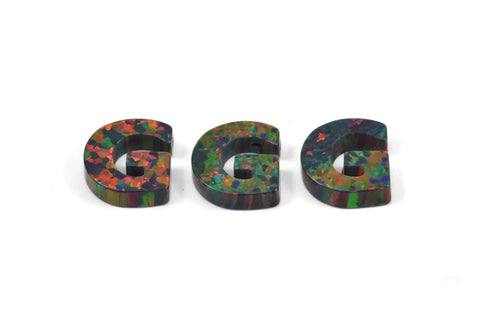 Opal G Letter - Snythetic Opal Initial Letter (10x9x2.50mm)