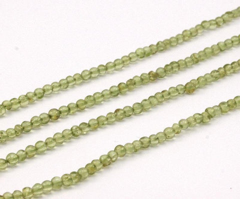 1 Strand Peridot 4Mm Gemstone Round Beads T09 T009