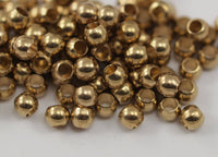 Spacer Ball Bead, 40 Raw Brass Spacer Ball Beads , Findings (5mm) Brs 0103 B0032