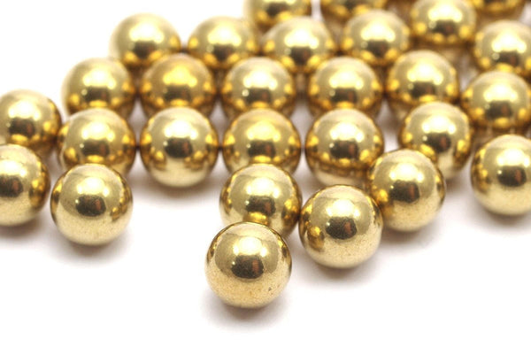 20 Raw Brass Ball Beads Without Holes 8 Mm Bs-1095--r005