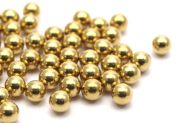 20 Raw Brass Ball Beads Without Holes 6 Mm Bs-1094--r006