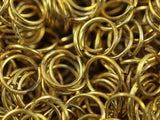 12mm Jump Ring - 100 Raw Brass Jump Ring (12x1.2mm) Y232