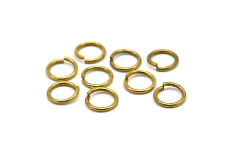 12mm Jump Ring - 50 Raw Brass Jump Rings (12x1.5mm) D232
