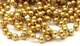 Big Ball Chain, 5 M. (4.5mm) Raw Brass Ball Chain Z155