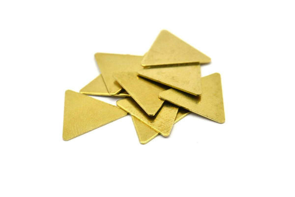 Brass Triangle Blank, 50 Raw Brass Triangle Stamping Blanks (12x14mm) Brs 3016 A0411