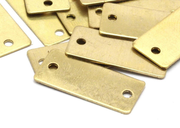 Brass Necklace Bar, 24 Raw Brass Rectangle Stamping Blanks (22x10x0.60mm) D228