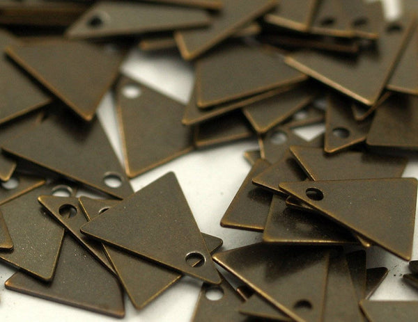 Brass Triangle Charm50 Antique Brass Triangle Charms (10x9mm) K094