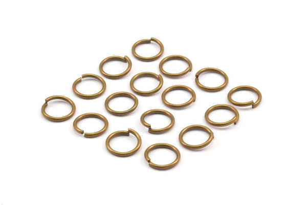 10mm Jump Ring - 100 Antique Brass Round Jump Rings Connectors Findings (10mm) R-10 A0333
