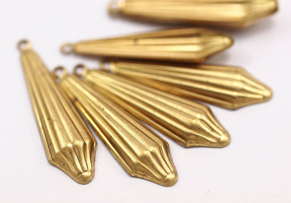 2 Vintage Brass Pendant 31x9 Mm
