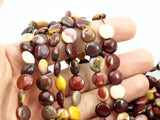 Moukaite Jasper 10 Mm Coin Gemstone Beads 15.5 Inches LC