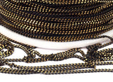 Cable Chain, Black Chain, 30 (1.5mm) Black Antique Brass Faceted Soldered Curb Chain - Ys009 ( Z046 )