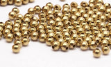 3mm Crimp Beads, 500 Raw Brass Spacer Ball Beads , Crimp Beads (3mm , Hole Size 1mm ) Bs 1087--n570