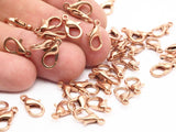 Copper Parrot Clasp, 100 Copper Plated Lobster Claw Clasps (12mm) A0817