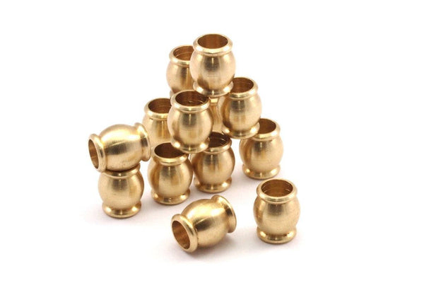 20 Pcs Raw Brass Industrial Findings, Spacer Beads (11.5x10 Mm) D399