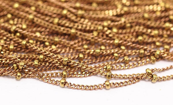 Faceted Red Brass Chain, 10m (1.6mm) Faceted Red Brass Soldered Chain - Ybt008 ( Z014 )