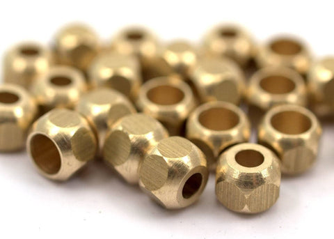 16 Raw Brass Industrial Findings, Spacer Beads (10x8 Mm) D027