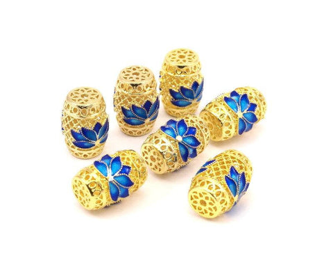 Brass Enamel Connector Beads(16x12mm) L05 R075
