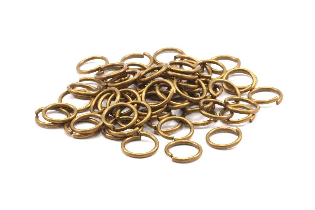 8662c1190c235 10mm Jump Ring -200 Antique Brass Round Jump Rings Connectors Findings  (10mm) R-10 A0333