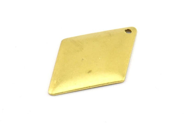 Brass Diamond Charm, 20 Raw Brass Diamond Charms,pendant,findings (24x16mm) Brs 24 A0167