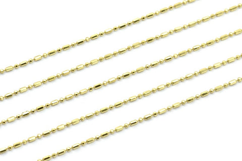 1.2mm Customize Size Raw Brass Ball Chain - Brs5 Z101