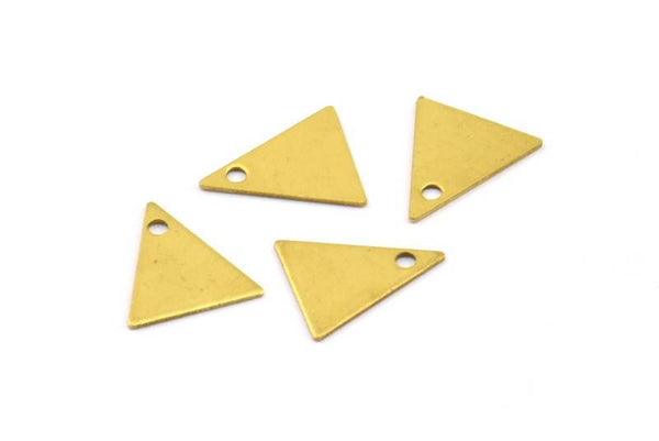 Brass Triangle Charm, 50 Raw Brass Triangle Charms (10x9mm) Brs 424 A0047