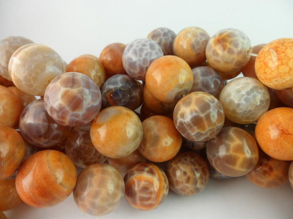 Crab Agate 10mm  Round Gemstone Beads-full Strand 15.5 Inches T024