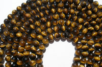 Tiger Eye 10mm Round Gemstone Beads 15.5 Inches Full Strand T016