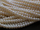 Freshwater Pearl Rondelle Beads 6 mm , 15.5 inc. Full Strand in6B  TS 05