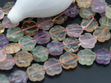 Multi Stone 18 Mm Flower Gemstone Beads Full Strand G67