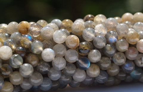 1 STRAND Flash Labradorite 4 mm Round Bead T-95 T020