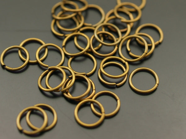 8 mm Antique Brass Jump Ring Connectors Findings 100 pcs