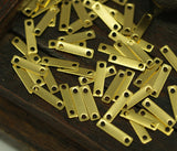 Brass Rectangle Connector, 100 Raw Brass Rectangle Connectors (9x2mm) Brs 613 A0067