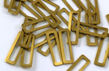 Rectangle Brass Charm, 25 Raw Brass Rectangle Connectors, Findings (19x6mm) Brs 3140 B0037