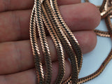 2 Meters- 6.6 Feet Vintage Copper Plated Brass Chain 4 Mm Z104