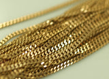 5 meters Faceted Raw Brass Soldered Chain (2mm) W4