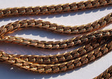 1 Meter Vintage Brass Copper Plated Soldered Chain (4.30 X 2 Mm) ( Z038 )
