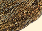 1 Meter Faceted Bar Raw Brass Soldered Chain (3.5 X 6 X 1 Mm) - W61