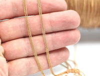 10 Meters - 33 feet 1 mm Red Raw Brass Soldered Chain - W53