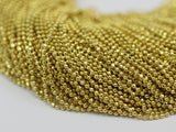 5 Meters - 16.5 Feet (1.2 mm) Raw Brass Faceted Ball Chains ba1.2 ( Z020 )
