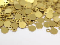 Brass Cabochon Tag, 250 Raw Brass Cabochon Tags , Stamping Tags (4.5mm) A0216
