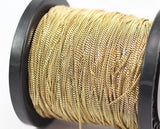 10 M. Faceted Raw Brass Soldered Curb Chain (2x3.2 mm)