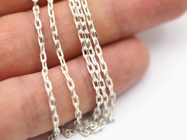 5 meters - 16.5 Feet Gold and White Brass Soldered Cable Chain (2x3.5 mm) - W60 ( Z047 )