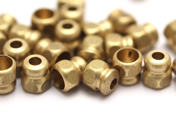 20 Pcs Raw Brass Industrial Findings, Spacer Beads (9x8 Mm) A0821