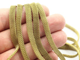 Brass Mesh Chain, 5 M (6x1.7mm) Raw Brass Mesh Chain - ( Z074 )