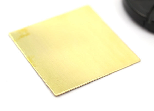 Brass Square Blanks - 2 Raw Brass Sheets, Square Stamping Blanks (50x50x0.80mm)  D285--C105