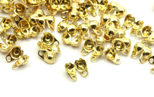 Ball Chain Connector, 100 Raw Brass Ball Chain Connector Clasps (2.3mm)
