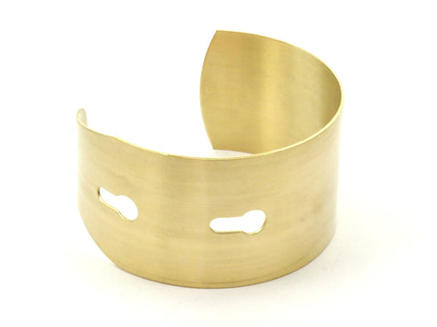 Brass Bracelet Bangle - 2 Raw Brass Cuff Key Hole Bracelet Bangles (35x160x0.80mm)  BRC021